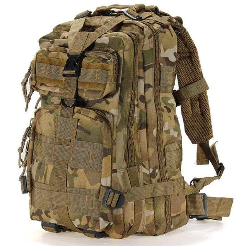 Silver Knight Tas Ransel ARMY BAG 3P (พราง CP) Backpack Camping กระเป๋าเดินป่าขนาดกลาง ช่องใส่ของและเสื้อผ้าจุถึง 4 ช่อง