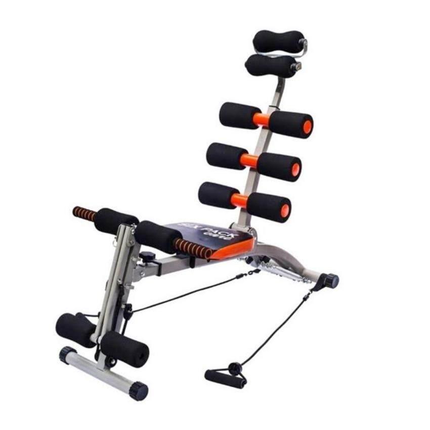 Sport City SIX PACK เครื่องออกกำลังกาย (สีดำ/ส้ม)พร้อมสายแรงต้าน ...