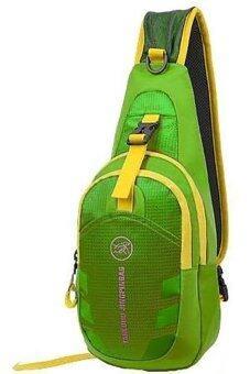 SportlifeOnline กระเป๋าสะพายไหล่กันน้ำ กระเป๋าคาดอก รุ่น D02 - สีเขียว