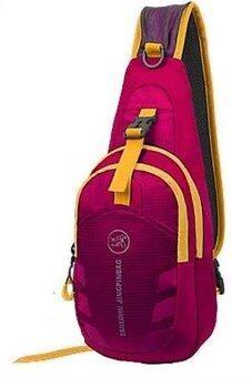 SportlifeOnline กระเป๋าสะพายไหล่กันน้ำ กระเป๋าคาดอก รุ่น D02 - สีชมพู