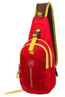 SportlifeOnline กระเป๋าสะพายไหล่กันน้ำ กระเป๋าคาดอก รุ่น D02 - สีแดง