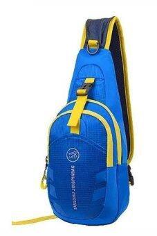 SportlifeOnline กระเป๋าสะพายไหล่กันน้ำ กระเป๋าคาดอก รุ่น D02 - สีน้ำเงิน