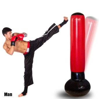 Sports Outdoors Punching Bags Accessories Inflatable Boxing Tower With Pump Speed Balls Training Punching Bag -