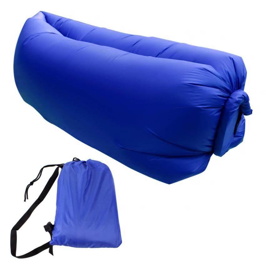 Telecorsa โซฟาลม ที่นอนเป่าลม ใช้ลมธรรมชาติ พร้อมถุงผ้า รุ่น Hangout Bed11 (สีน้ำเงิน)