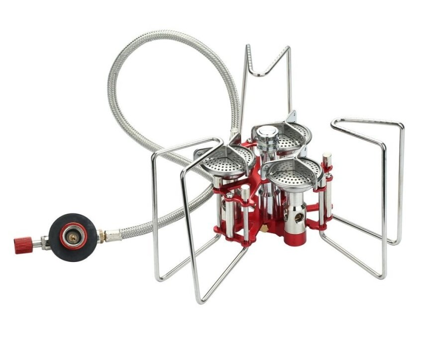 telimei Ultralight Split Portable Folding Camping Stove Outdoor Backpacking Stove For Gas Canisters - intl