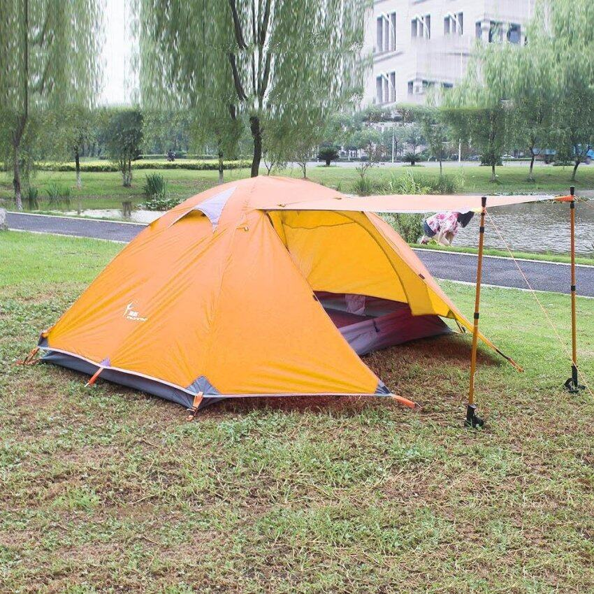 Waterproof Double Layer Camping Tent Two Person Use - intl