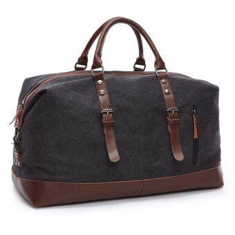 ZUO LUN DUO กระเป๋าสัมภาระ Canvas Leisure Bag ถือและสะพายไหล่ รุ่น 8655 (สีดำ)