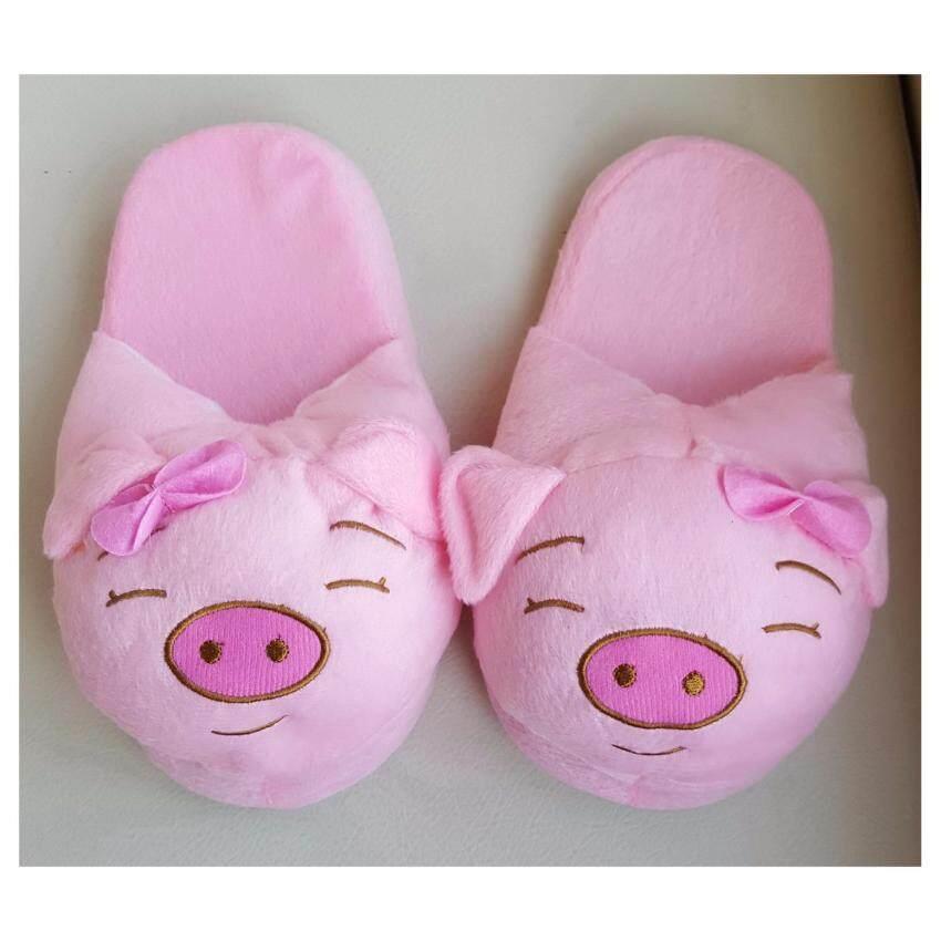 รองเท้าน้องหมูสีชมพู (ซื้อ 1 แถม 1) ...