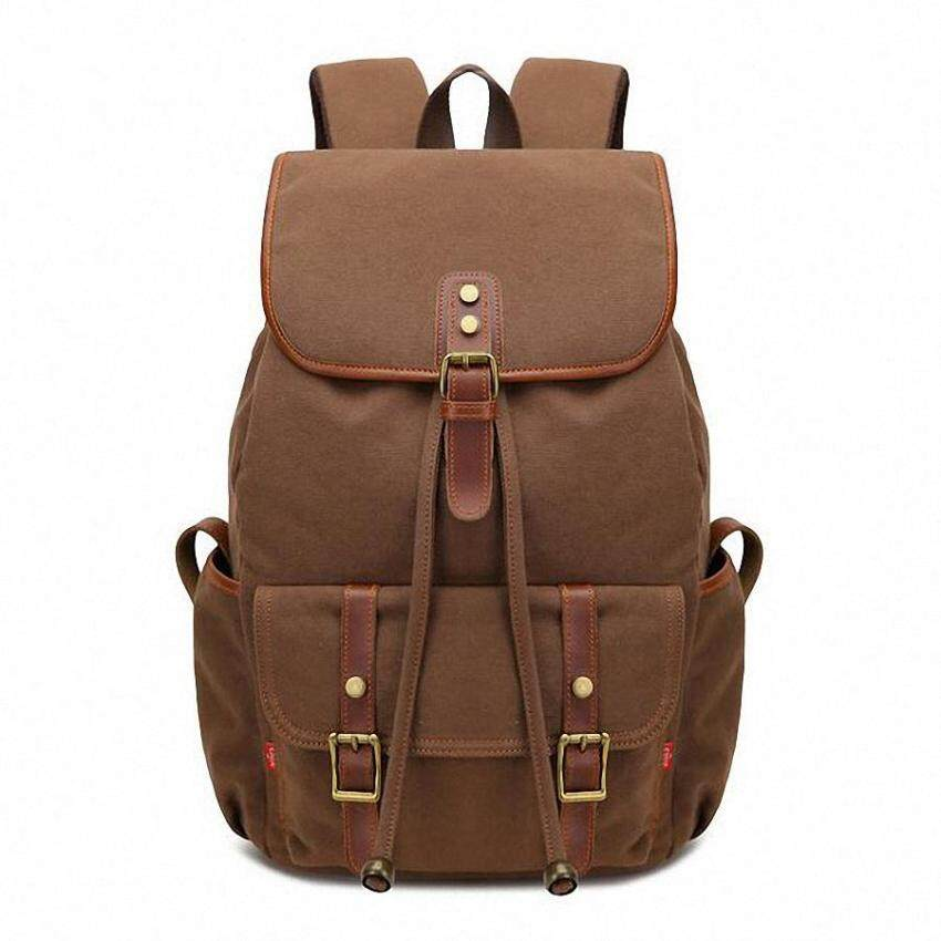 2016 New Casual Canvas Men Backpack Retro Vintage Male Students School Bag Korean Man Shoulder Bag 14' laptop backpack LI-1436 - intl