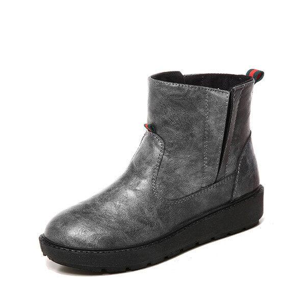 2016 Winter warm cow leather shoes women fashion shoes boots women(Grey) - intl ...