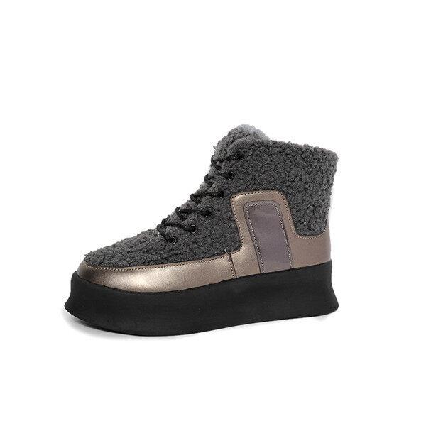 2016 Winter warm high top Wool surface shoes women fashion Increase boots women(Grey) -  ...