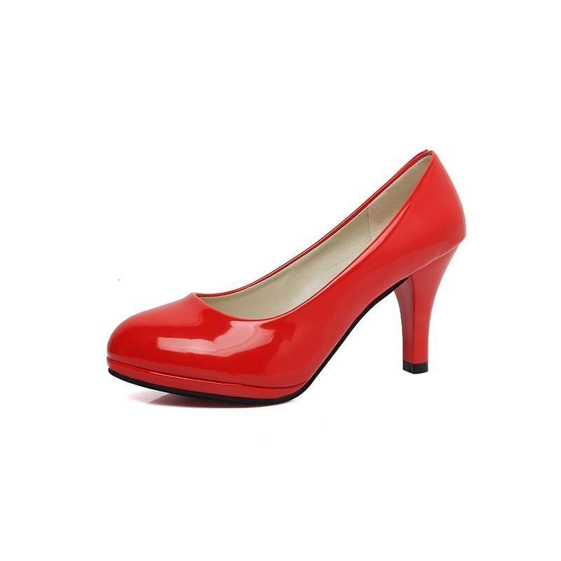 2017 High Quality Women OL Style Pumps Ladies High Heel Plus Size Shoes(red) - intl ...