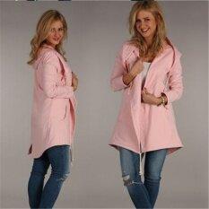 2017 Hitz, Long, Hooded, Long Sleeved Sweaters, Jacket(pink) - Intl ราคา 829 บาท(-61%)