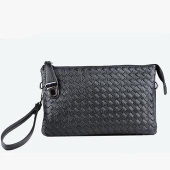 2017 New Waterproof Weave Handbag Fashionable Crossbody Leisure Business Bags (Black) - intl(...)