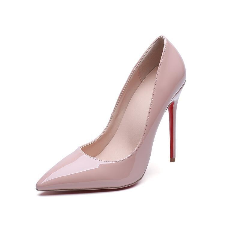 2017 Office Lady Fashion Pumps Ladies High Heel Shoes Party Sexy Shoes-10 cm(pink) - int ...