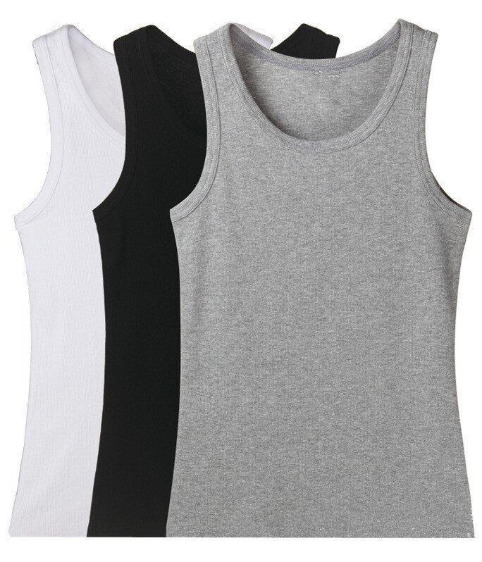3ชิ้นเสื้อผู้ชายผ้าฝ้ายขายส่ง MVT003 (สีดำ/ขาว/สีเทา)
