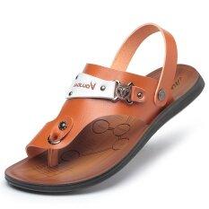 อังกฤษฤดูร้อนระบายอากาศของผู้ชายรองเท้าแตะลำลองชายรองเท้าแตะ (3002 สีน้ำตาล) (3002 สีน้ำตาล) ราคา 559 บาท(-71%)