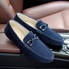 ขี้เกียจแนวโน้มเหยียบฤดูใบไม้ร่วงผู้ชายลำลองรองเท้า (806 สีฟ้า (รหัสมาตรฐาน)) ราคา 458 บาท