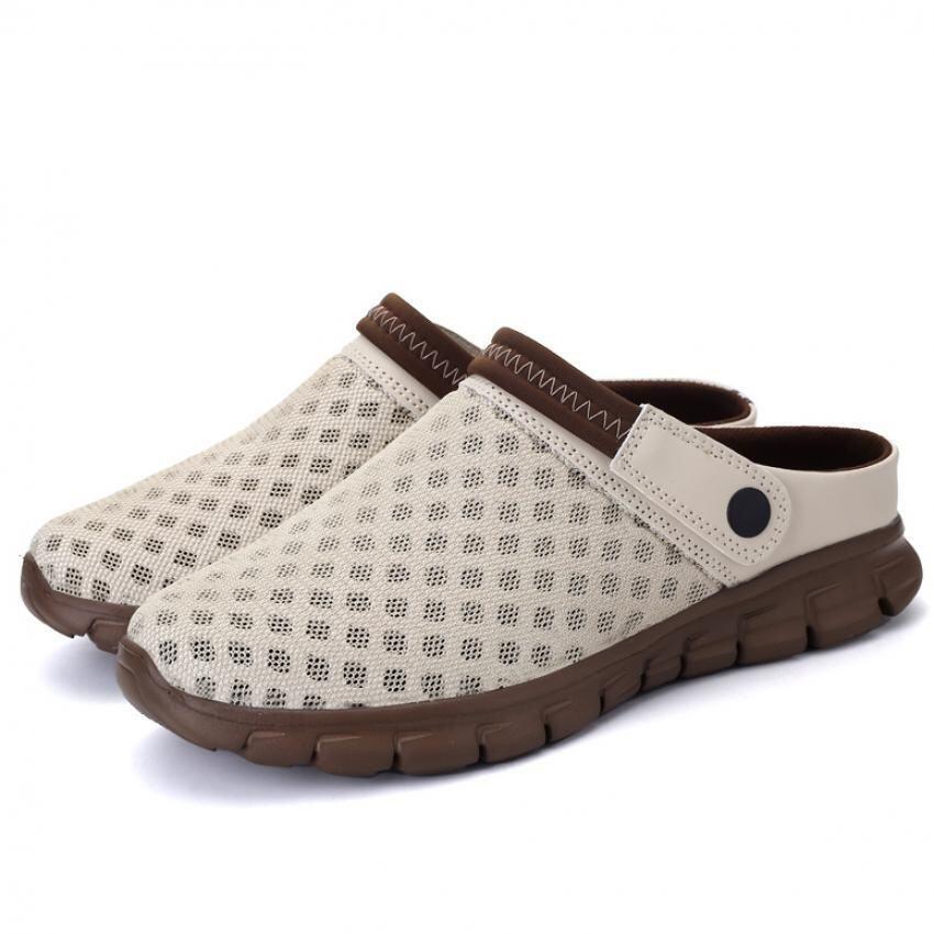 นำเสนอ AD NK FASHION Women's Mesh Breathable Summer Beach Slippers Sandals( Brown) AK049 ข้อมูล