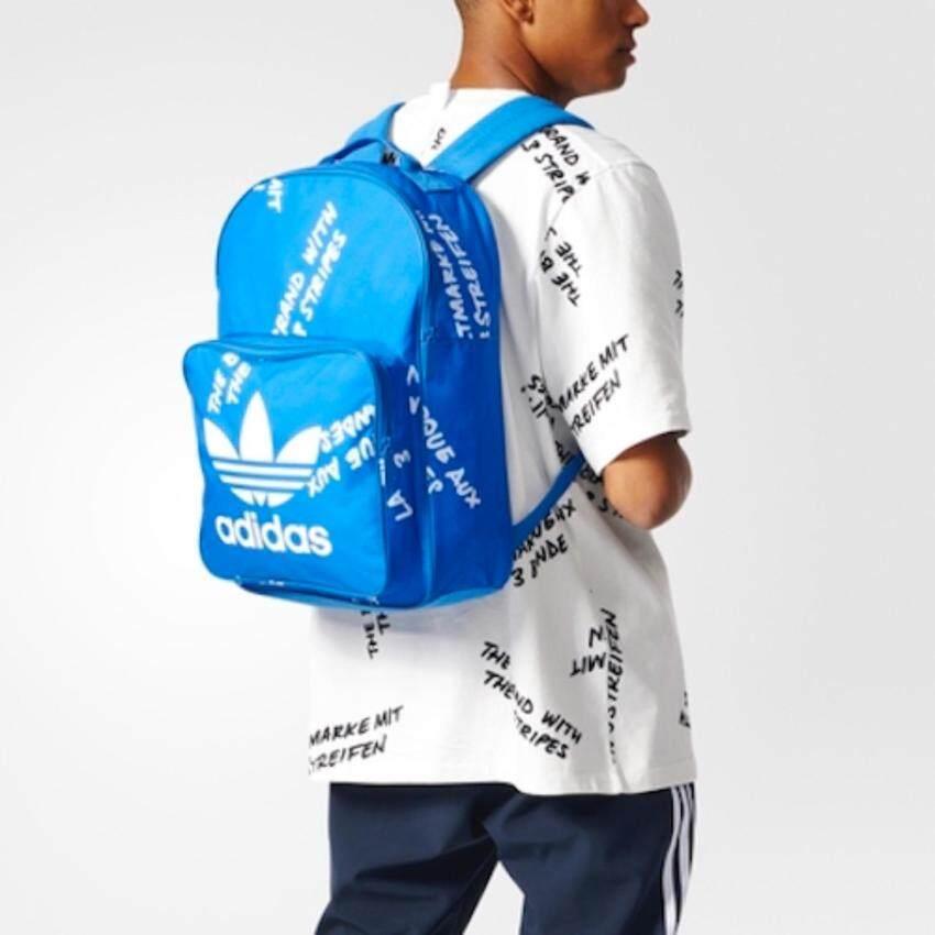 Adidas กระเป๋าสะพาย Classic Graphic Backpack Blue Color ขนาด30x44x16cm.
