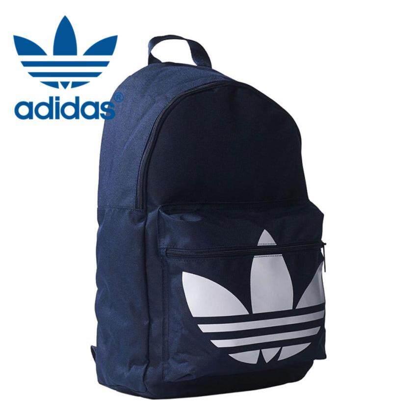 """อาดิดาส กระเป๋าเป้สะพายหลัง รุ่น Adidas Originals Classic Trefoil Backpack 2017 สีกรม """"AJ829 / BGV29 ของแท้"""" - アディダス オリジナルクラシックトレフォイルバックパック ダークブルー - ADIDAS"""