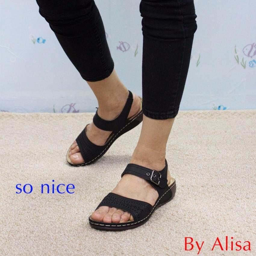 Alisa Shoes รองเท้าเพื่อสุขภาพ รุ่น RC635-11R Black