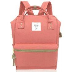ANELLO CLASSIC POLYESTER CANVAS RUCKSACK (CORAL PINK)