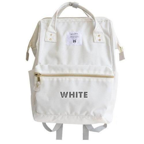 Anello กระเป๋าเป้แฟชั่น Japanese original backpack (สีขาว)