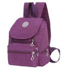 AOTIAN กระเป๋าเป้สะพายหลังผ้ากันน้ำสีม่วง รุ่น WH2124 (สีม่วง)