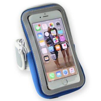 ซื้อ/ขาย Arm pocket สายรัดแขน ออกกำลังกาย รุ่น iphone 6 plus (สีน้ำเงิน) ฟรี หูฟัง Smart Phone