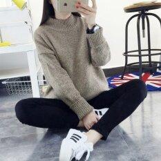 Autumn New Style Womens Loose Thickening Sweater Coat Khaki - Intl ราคา 611 บาท(-43%)