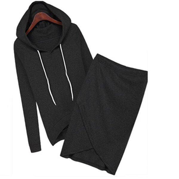 Autumn Summer Outdoor Baseball Women Casual Sport Suits V-neck Long Sleeve Dress set (Black) (Intl) - intl ...