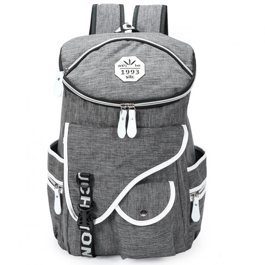 Bag Fashion กระเป๋าเป้สะพายหลัง (สีเทา) รุ่น046