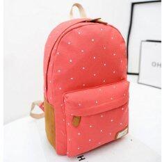 Bag Fashion กระเป๋าเป้ สะพายหลังผู้หญิง แนวอินดี้ รุ่น15 (สีโอรส)