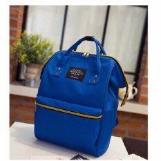 Bag Fashion กระเป๋าเป้สะพายหลัง กระเป๋าแฟชั่น รุ่น034 (สีฟ้าเข้ม)