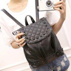 Bag Fashion กระเป๋าเป้สะพายหลัง สำหรับผู้หญิง เเบบรูดเชือก รุ่น1 (สีดำ)