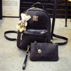 Bag Fashion กระเป๋าสะพายหลัง เป้สำหรับสตรี สไตล์เกาหลี รุ่น599 (สีดำ)