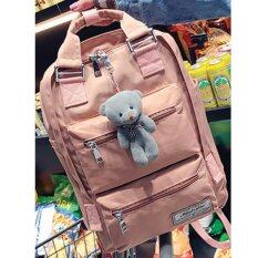 Bamboo-กระเป๋าเป้สะพายหลัง รุ่น Mini Bear สีชมพู