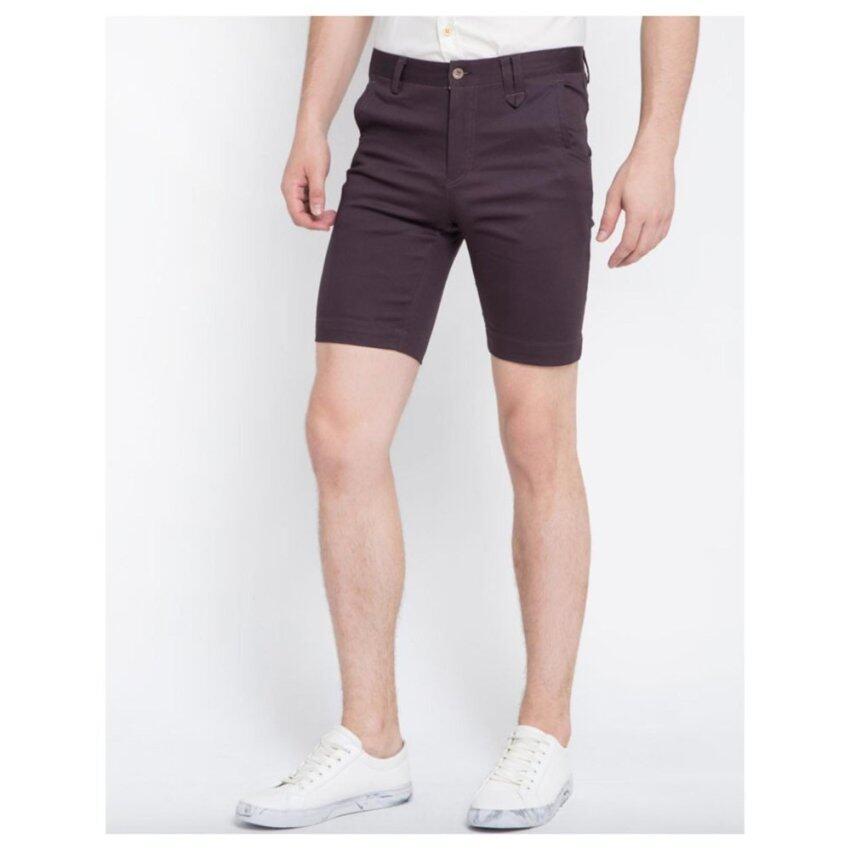 B&B menswear & Fashion กางเกงขาสั้น Chino สีเทาเข้ม