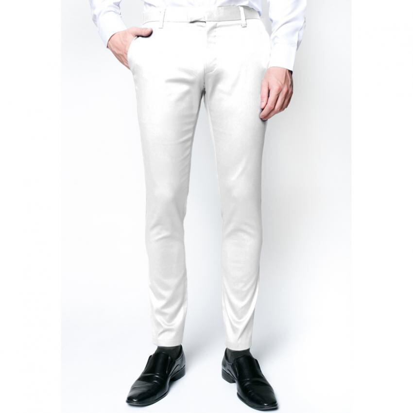 B&B menswear กางเกงชิโน่ ขายาว สีขาว Chino Pant (สีขาว) ...