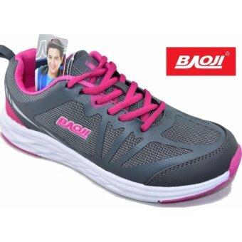 Baoji รองเท้าผ้าใบผู้หญิง BAOJI รุ่นBJW299(Grey/Rose)