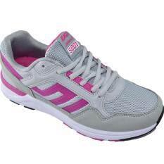 Baoji รองเท้าผ้าใบผู้หญิงBAOJI รุ่น JamesJi S001(Grey/Rose)