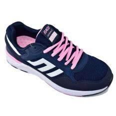 Baoji รองเท้าผ้าใบผู้หญิงBAOJI รุ่น JamesJi S001(Navy/Pink)