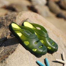 แนวโน้มของผู้ชายคำลาก Baotou รองเท้าแตะ (ชายรุ่น + สีเขียว) ราคา 382 บาท(-25%)