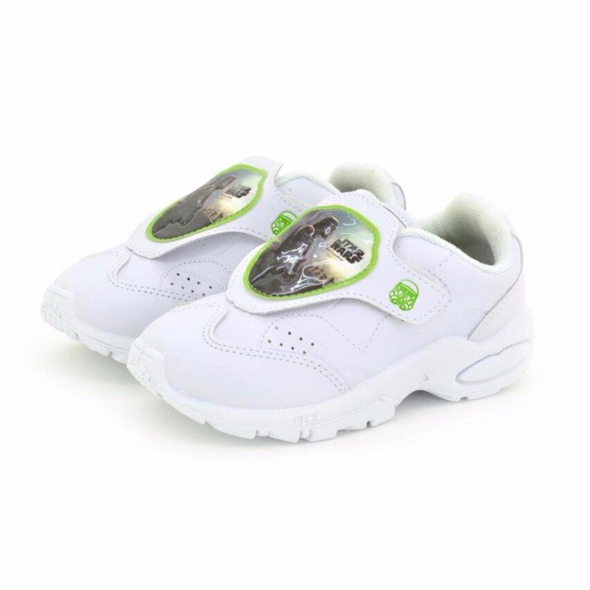 Bata Disney รองเท้านักเรียนผ้าใบ เด็กผู้ชาย สีขาวลายสตาร์วอร์ รหัส 2411133