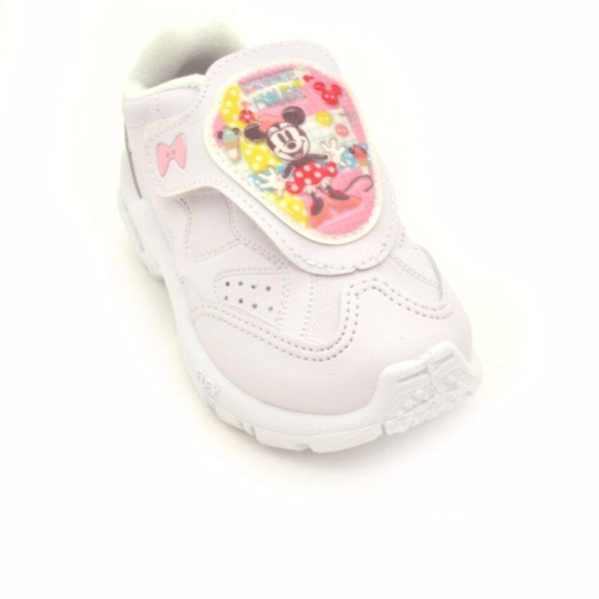 Bata Disney รองเท้านักเรียนผ้าใบ เด็กผู้หญิง สีดำลายมินนี่ เม้าส์ รหัส 2411015