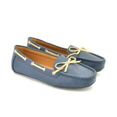 BATA รองเท้าแฟชั่นผู้หญิงคัชชูส้นเตี้ย LADIES'CASUAL MOCCASINE สีดำ รหัส 5519532