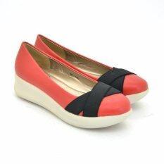 BATA รองเท้าผู้หญิง ผ้าใบแฟชั่น LADIES'CASUAL SLIP ON สี แดง รหัส 6515580