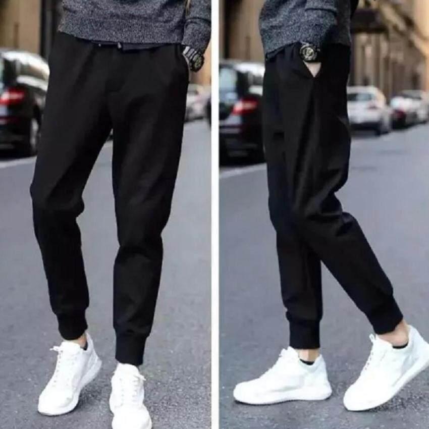 BB กางเกงวอมขายาว กางเกงออกกำลังกาย (สีดำ) รุ่น 120