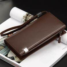Beautina กระเป๋าสตางค์ กระเป๋าตัง กระเป๋าเงิน หนังกันน้ำ สีน้ำตาล ทรงยาว Wallet Brown ราคา 329 บาท(-79%)